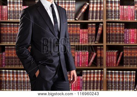Closeup Of Young Businessman