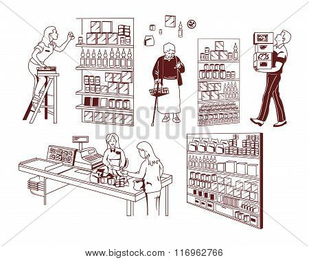 Store different products