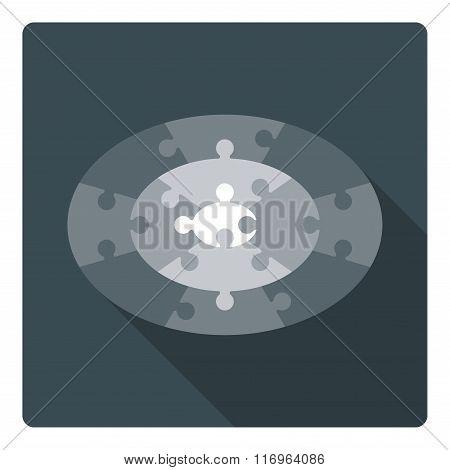Ellipse puzzle - 13 parts