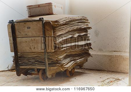 Cart With Papers