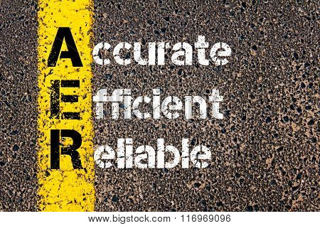 Business Acronym Aer Accurate, Efficient, Reliable