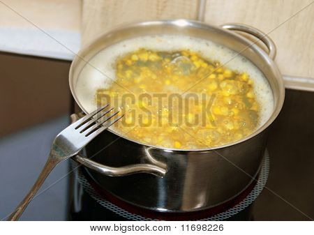 Cooking Corn In Pot