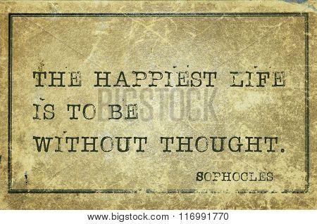 Happiest Life Sophocles