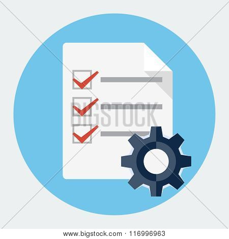 Vector order processing icon