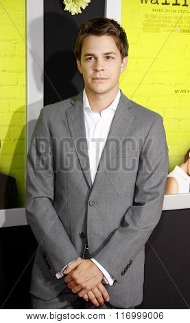 Johnny Simmons at the Los Angeles premiere of 'The Perks Of Being A Wallflower' held at the ArcLight Cinemas in Hollywood, USA on September 10, 2012.