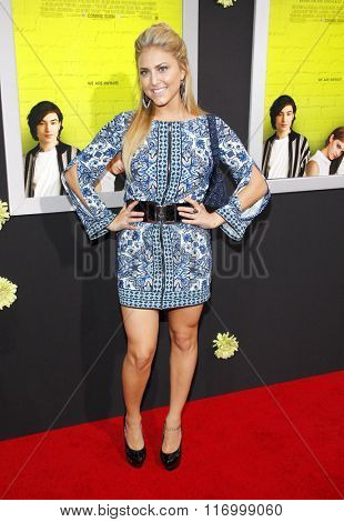 Cassie Scerbo at the Los Angeles premiere of 'The Perks Of Being A Wallflower' held at the ArcLight Cinemas in Hollywood, USA on September 10, 2012.