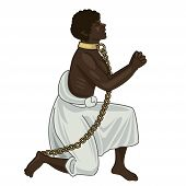 Abolition Of Slavery. Abolition Of Slavery Amendment. Slavery Picture. Towards Freedom. Woman In Chains. Slave Owners. Vector Figure. Strong Woman. Will To Live. Vector Illustration: Captive Woman. poster