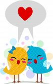 Illustration of Lovebirds Using the Language of Love poster