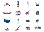 Veterans Day simply symbols for web icons poster