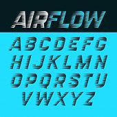 Airflow alphabet vector illustration poster