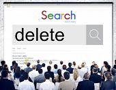 Delete Cancel Cut Out Edit Remove Digital Concept poster