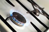 gas cooker with burning ring-retro model of a gas cooker poster