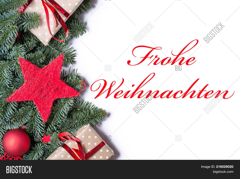 Merry Christmas In German.Merry Christmas German Image Photo Free Trial Bigstock