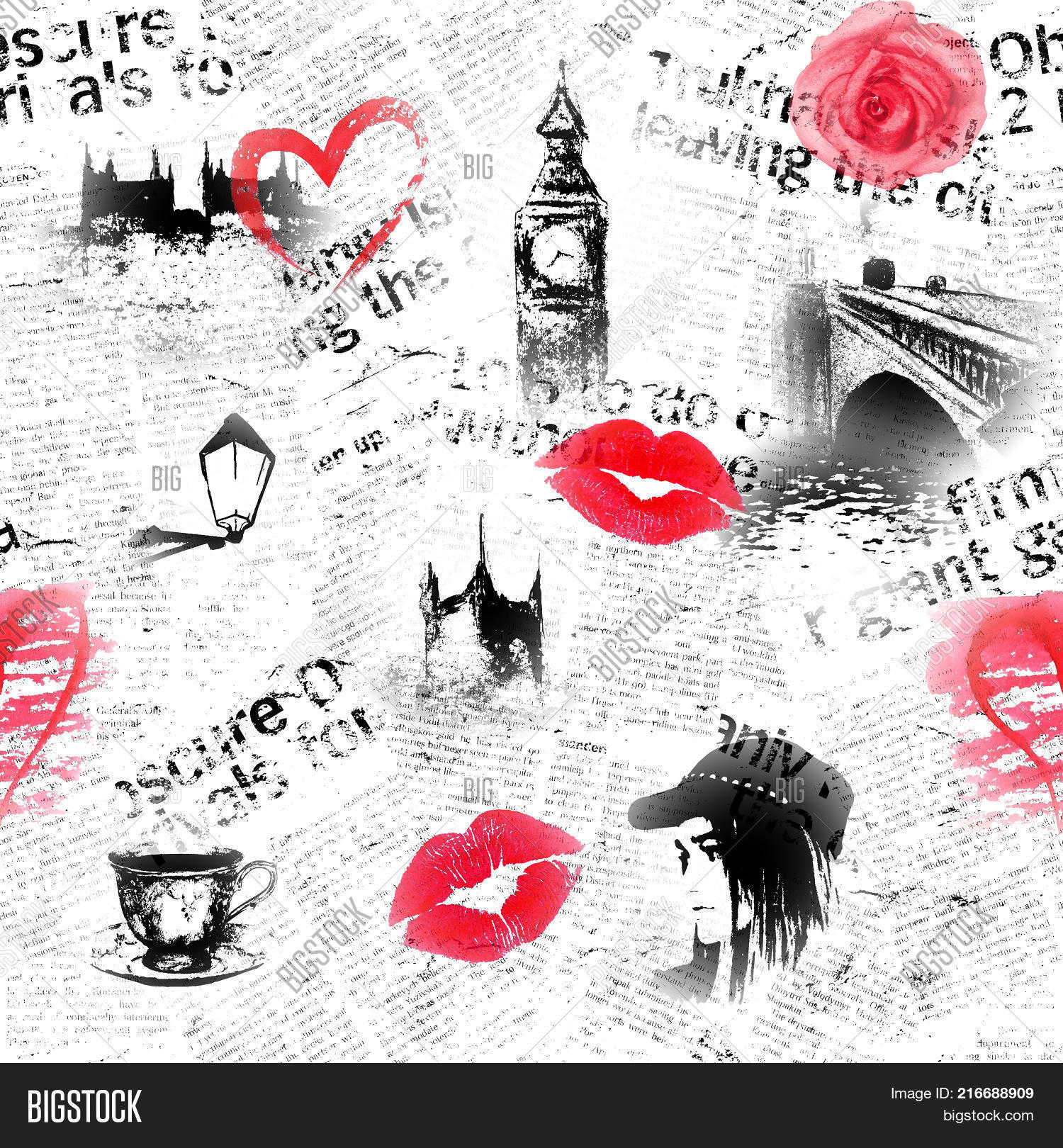 Black White Red London Image Photo Free Trial Bigstock