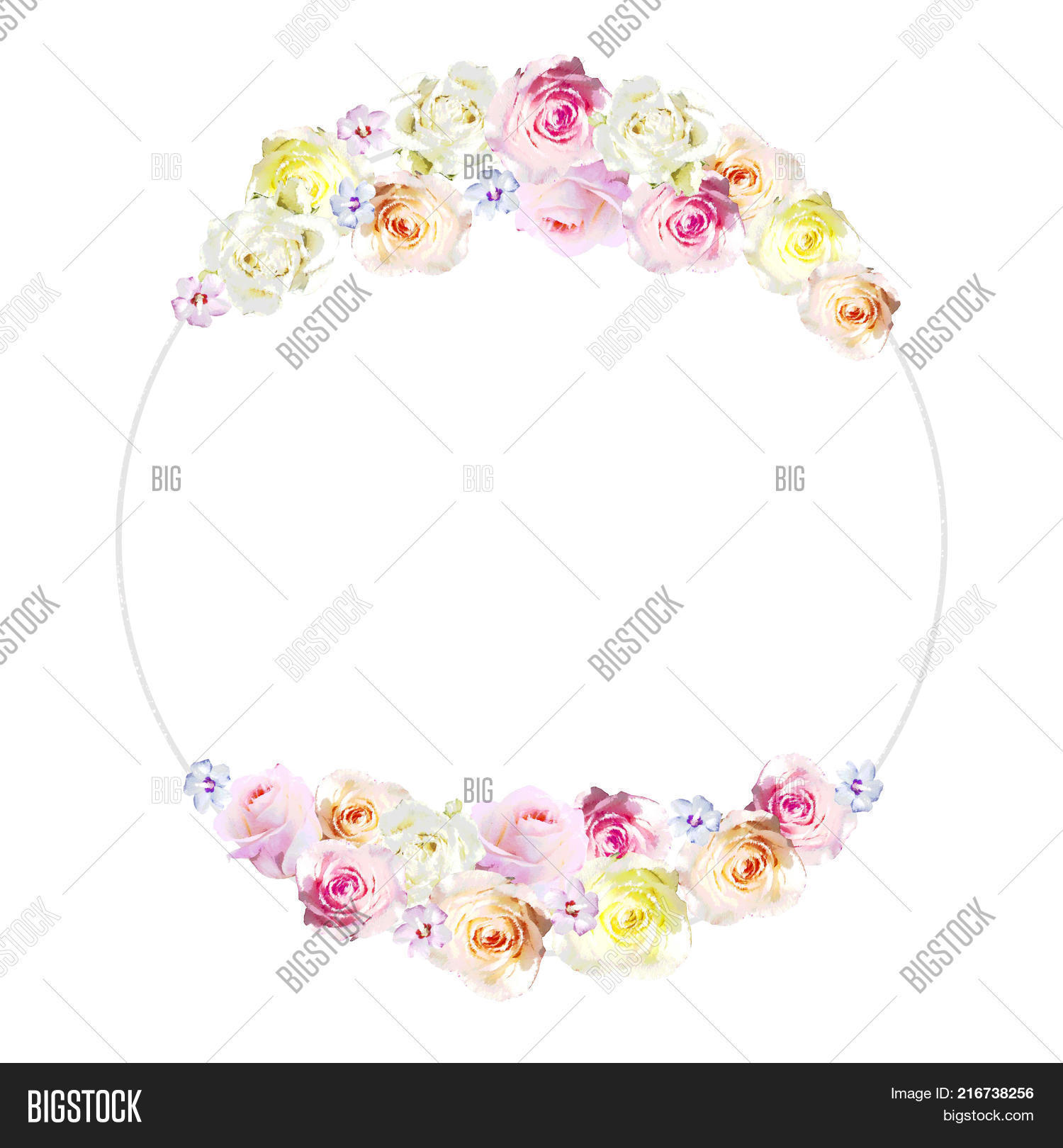 Round Frame Beautiful Image Photo Free Trial Bigstock