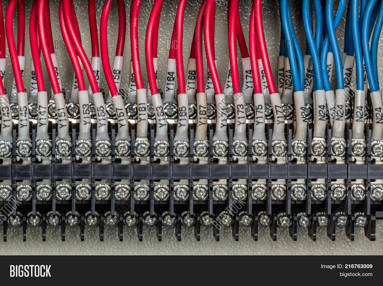 Wiring PLC Control Panel Wires Image & Photo | Bigstock