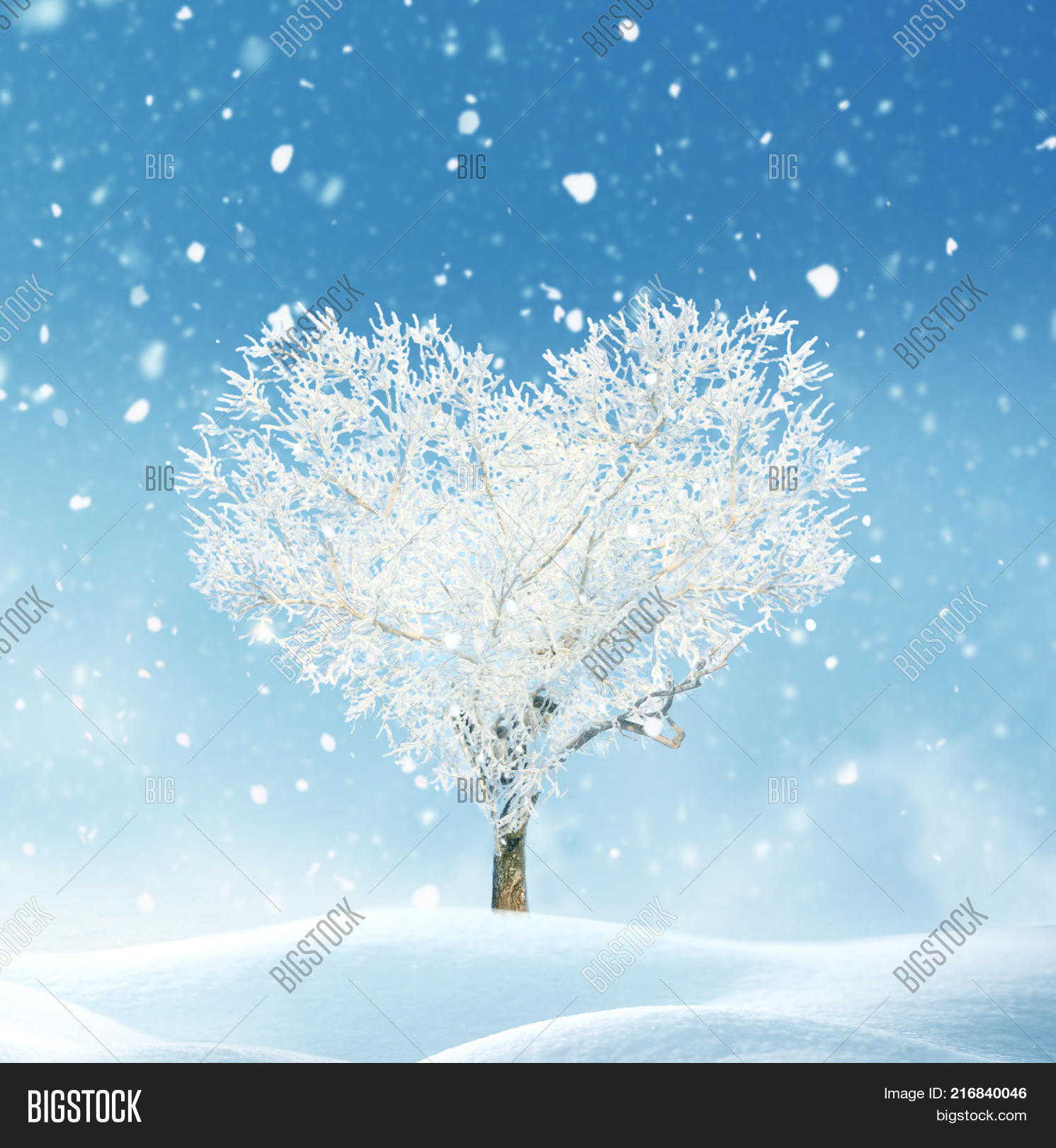 christmas background with snow happy new year greeting card with copy spacetree of