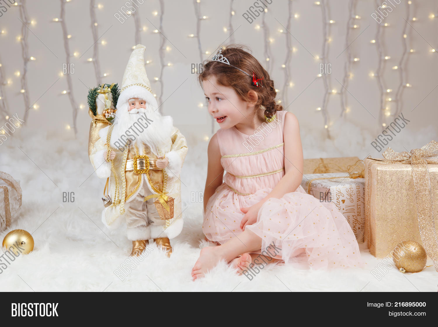 27e82182f3ab3 Portrait of white Caucasian children friends siblings celebrating Christmas  or New Year. Little cute adorable