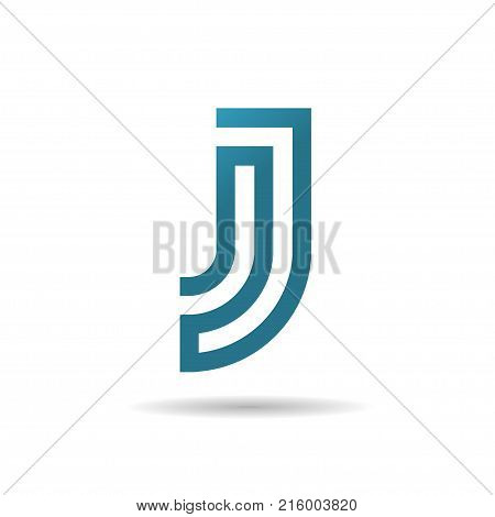 creative Letter J logo design template elements, j letter best logo design, alphabet logo design