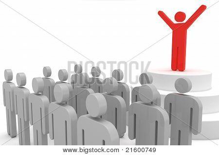 Líder e multidão