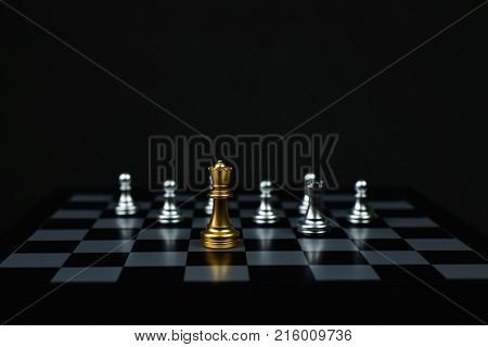 Leadership Concepts Chess is a leader Chess game on a black background.