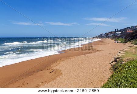 Coastal Landscape In Umdloti Beach In Durban South Africa