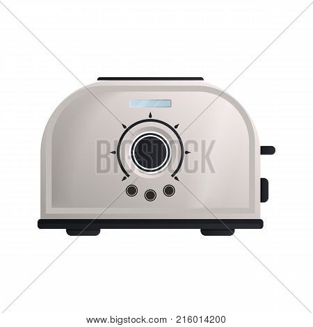 Bread toaster icon. Modern electronic appliance, realistic household device, kitchen interior equipment isolated vector illustration.