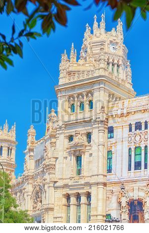 Cibeles Center Or  Palace Of Communication, Culture And Citizenship Centre In The Cibeles Square Of