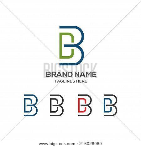 DB letter logo design vector illustration template, B letter logo vector, letter D and B logo vector, creative Letter DB letter logo