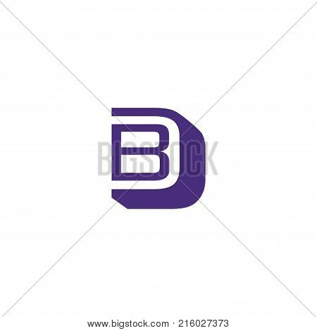 BD letter logo design vector illustration template, B letter logo vector, letter D and B logo vector, creative Letter BD letter logo