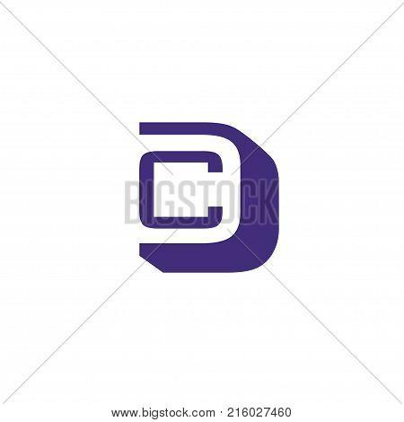 CD letter logo design vector illustration template, C letter logo vector, letter C and D logo vector, creative Letter CD letter logo
