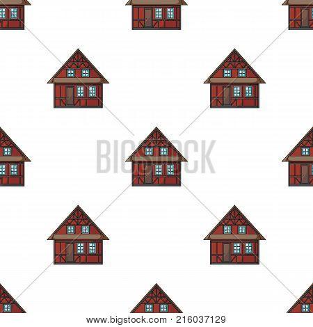 House, single icon in cartoon style.House, vector symbol stock illustration .