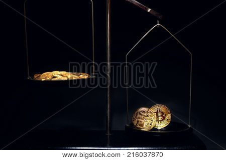 Bitcoin On The Scales. New Virtual Money.