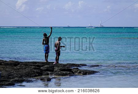Seascape Of Cap Malheureux, Mauritius