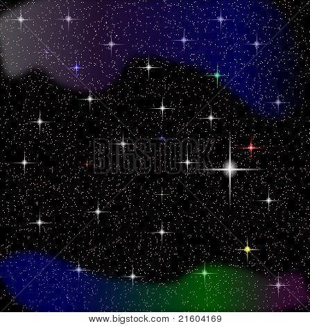 Stars vector night sky