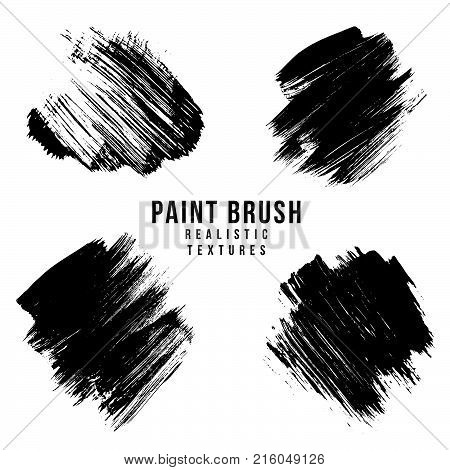 Vector Paint Brush Strokes Texture.