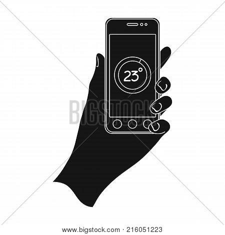 Smartphone, single icon in black style.Smartphone, vector symbol stock illustration .