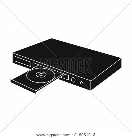 Player, single icon in black style.Player vector symbol stock illustration .
