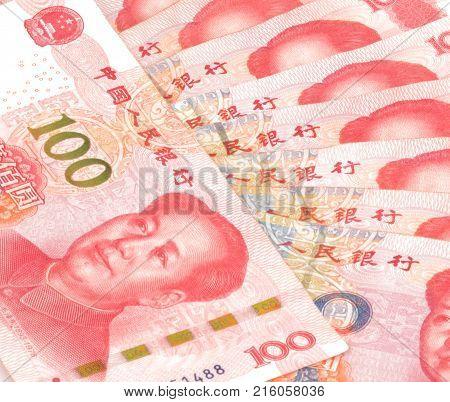 Chinese Currency Yuan Rmb Bill