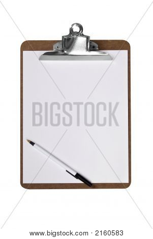 Clip Board With Pen