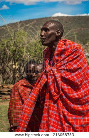 Young Man Of Masai Village, Kenia