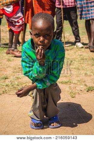 Children Of Masai Village, Kenia