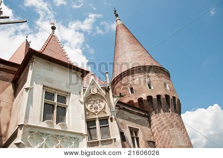 Architectural details at a Romanian stone castle