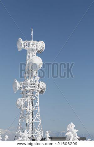 winter telecommunication tower