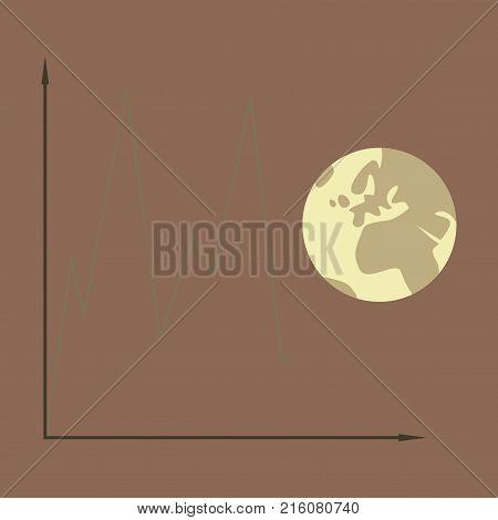 flat icon on theme Arabic business world economy chart