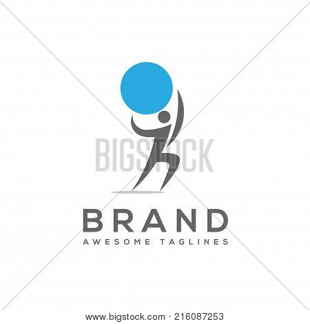 man carrying atlas globe, man Atlas A stylized vector of a man the weight of the world, under pressure, strain, or strength. Globe, man,sport , business