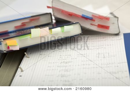 Books And Notes Mess