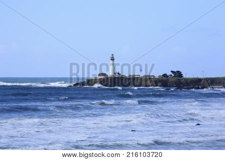 Pigeon Point Light Station, next to CA Route 1