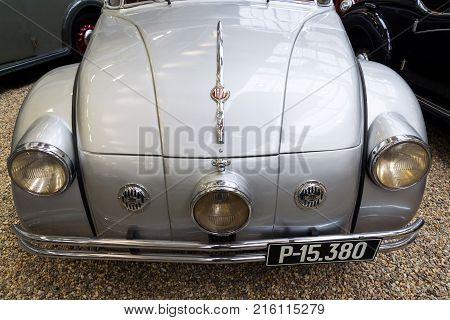 Prague, Czech Republic - November 10: Car Tatra 77 A From Year 1937 Stands In National Technical Mus