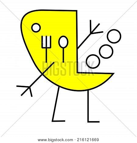 Spoon and Fork Icon Vector. Food, dining, bar, cafe, hotel, eating concept. Sign Isolated on white background. Trendy Flat style for restaurant menu, graphic design, logo, Web, UI, mobile upp EPS10